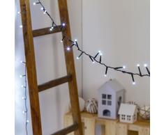 Catena 15m, 300 miniled Bianco Freddo, Cavo Verde, luci Decorative, luci Natalizie, Catena per Albero di Natale