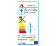 Reality Leuchten Reality R81324106 Wire Faretto, 4xG9, 28 W Alogena, Cromo/Trasparente Chiaro, 69.5x20 cm, Metallo