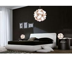 Super Promo SET LUCI CAMERA DA LETTO Lampada sospensione moderna sfera Fiocco 35 cm + 2 Lampade design comodini FIOCCO 25 cm Lampade moderne camera da letto led luce fredda