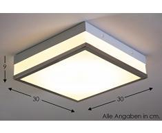 Plafoniera LED Lampadario Forma Quadrata Sopsensione Illuminazione DESIGN