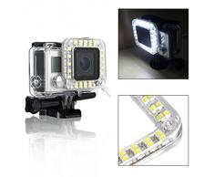 USB Obiettivo Anello LED Flash Light Notte con per GoPro Hero 3+/ 4 OS246