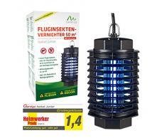 Gardigo Basta ZZZZZ - Zanzariera elettrica; Lampada Insetticida Ammazza zanzare con Luce UV; Trappola insetti - Portata 25 m², SGS GS
