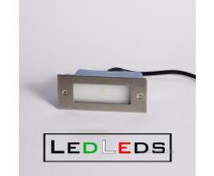 Faretto incasso led segnapasso luce bianco freddo 1 led 1 watt 230v uso esterno