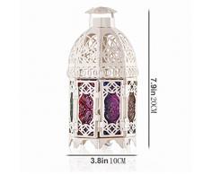Lampada da sale SYAODU lampada da tavolo in Marocco lampada da comodino camera da letto E14 soffitto ristorante in metallo illuminazione da soffitto attico AC110-240V lampada di vetro in stile mediterraneo in stile