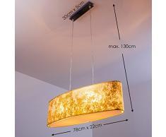 Lampadario Lampada a Sospensione Moderna Vetro oro Venosa