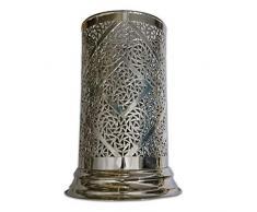 Maroc - Lampada a stelo, design orientale, in Marocco, per cucina, soggiorno o camera da letto, colore: Argento