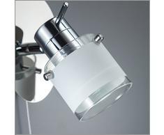 Faretto LED da soffitto o parete orientabile I applique bagno I lampada moderna resistente agli schizzi d'acqua I corpo metallo, color cromato I include lampadina da 5W I 230V I GU10 I IP44