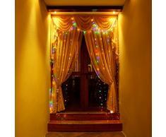Matrimonio Decorazioni Catena Luminosa Filo di Rame FoYoung Led Impermeabile 10m con Telecomando Luci Natale Multicolore