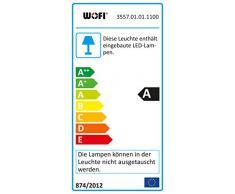 WOFI, Lampada a piantana, 9.5 Watt, 700 lumen, metallo