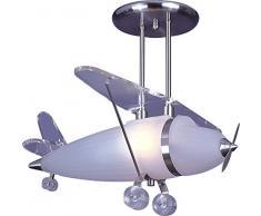 Interfan 26106 - Lampada da soffitto, a sospensione, motivo: aereo, vetro
