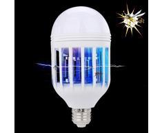 Gaddrt Insect Killer elettronico LED anti zanzare Mosquito Killer Catcher & lampada repellente per zanzare comuni domestici lampadina 15 W 1000LM 6500 K