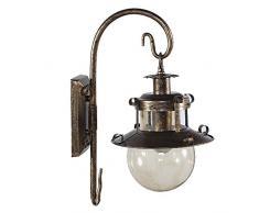 Vintage Applique in vetro da parete per soggiorno, motivo: BucolicoBucolico camera Bedsides Creative-Lampada da parete, modello balcone corridoio da parete