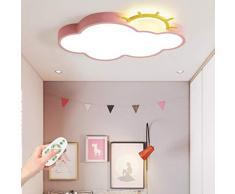 Lampada Da Soffitto A LED Per Bambini Dimmerabile 40W Metallo Arcobaleno E Nuvole Bianche Design Plafoniera Lampada Per Bambini Telecomando Moderna Per Sala Da Pranzo Da Letto Lampada A Sospensione