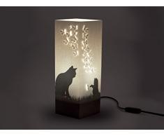 W-Lamp Wl611Shd Kitten Lampada Arredo, Carta, Crema, 11 X 11 X 32 cm