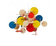 Costruzione Pendant Lampadario Design multicolor/Größe 1/H44cm