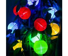 kriogor catena di luce a energia solare lampioni, 4.8 m 20 LED Globe Luce Catena per Indoor and Outdoor Multicolore