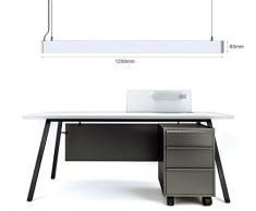 KJLARS 36W LED lampada a sospensione design lampadari 5000K moderni lampada da ufficio , Alluminio lampada di pannello in tessuto per la lampada ufficio appendere, tavolo da pranzo per appendere lampada, ufficio,studio,soggiorno