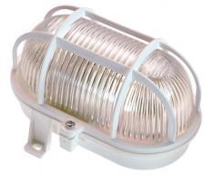 as - Schwabe 56112 - Faretto ovale per esterni, 60 W, 230 V per lampadina E 27 (non inclusa), Ip 44, colore bianco