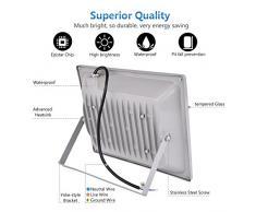 100W LED,Spotlight esterno, bianco diurno (6000-6500K), impermeabile, AC 200-240V, Super Bright, Super Bright, 10000LM,CE, ROHS Certificazione