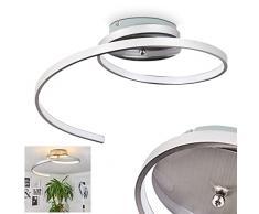 Plafoniera LED Sorrent - Lampada da Soffitto LED Design Moderno Minimale - Ideale per Zona Living Cucina Camera da Letto Salotto – Lampada a Spirale in Nichel Opaco Sospensione 25 cm