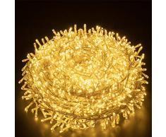 Elegear Luci Natale Esterno 25M 1000 LEDs Impermeabile Catena Luminosa LED Illuminazione di Natale per Camere da Letto Giardino Feste Matrimonio