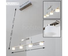 Lampada a sospensione Lampadario LED Aupaluk 3000 Kelvin Metallo Cromato Opaco Design Moderno Illuminazione Elegante Salone Cucina Studio