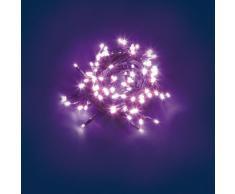 Catena 7 m, 96 led rosa light, cavo verde, con memory controller, luci colorate per l'albero di Natale, catene luminose, luci natalizie