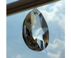 Con cristalli arcobaleno, Wachtel 50 mm 3 pezzi stelle goccia pendolo – Feng Shui – esoterica – finestra gioielli taglio – 30% PbO cristallo al piombo – pienamente – Cristalli appesi – lampadario in