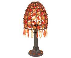 Näve 395598 Bella Lampada da tavolo altezza 35 cm, Colore Arancione