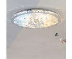 Plafoniera europea rotonda di cristallo da 25 W LED, plafoneria dimmerabile con telecomando, 230 V, 1800 Lumen, 3000-6000 K, Ø 43 cm