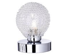 Reality R59321106 Wire Lampada Tavolo, 1xG9, 28 W Alogena, Cromo/Trasparente chiaro, 13.5 cm