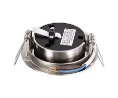 Ultra sottile LED Spot Faretto da incasso in acciaio inox 230 V ferro spazzolato orientabile - 4 W 330lm 120 ° - bianco caldo (2900 K)