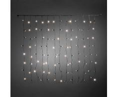 Konstsmide LED sistema allargamento, Tenda luminosa, isolata,/umgossen, 104Â diodi a luce bianca calda, Nero cavo morbido 4684Â -Â 117
