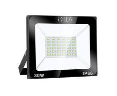SOLLA Faretto a LED da 30W, IP66 Resistente allacqua LED esterno, Bianco Caldo 3000K, 2400LM