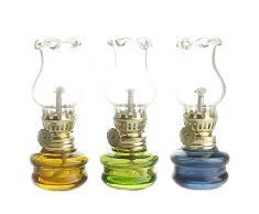 Purismo stile di kerosene Olio lampada lanterna di set di 3