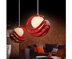Lampada moderna moderna lampadario a bracci lampada a sospensione con lampada a sospensione in vetro a forma di lampadario in vetro regolabile per ufficio Studio Camera da letto Salotto Salotto per sala da pranzo, 1 * E27 * 40W 3500K Bianco caldo