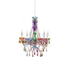 Kare, Lampada a sospensione, 55x70x55 cm, colore Multicolore