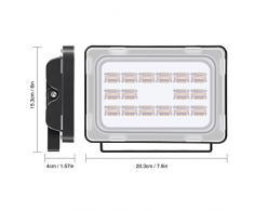 Viugreum Lampada LED Esterni 50W Impermeabile di VI Generazione Basso Consumo Lampada Luce Potente Super Luminosa Faretto da Giardino Garage Bianco Caldo