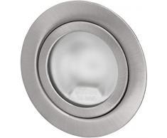 Spot da incasso Superslim G4 12V - full metal satinato - adatto per box anni '60 - con cover in vetro opaco - installazione Ø 60mm - profondità 21mm