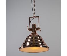 QAZQA Lampada a sospensione 'Fortes' design rame - adatta per LED / interna