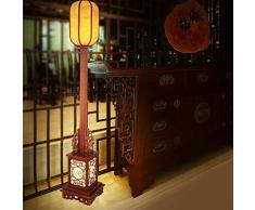 HN Lighting Nuova Lampada da Terra Antica Cinese, Soggiorno Camera da Letto Corridoio Studio Lampada Decorazione, Lampada da Terra in Legno massello