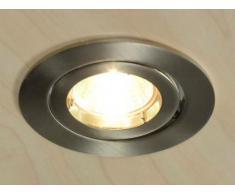 aniba Mali Design ABLAI0148-2 - Faretto spot alogeno da incasso, nichel spazzolato, colore: Argento