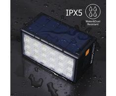 BigBlue 3 in 1 Lampade di Emergenza a LED con Ventosa, Lampada Campeggio Impermeabile IPX5 Lanterna Solare USB Porte da 10600mAh per Escursione/ Pesca/ Laboratorio/ Sopravvivenza