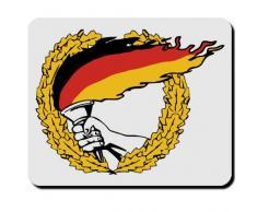 Bandiera della Germania Bandiera Paese BRD rosso oro nero fiaccola Disco Olimpiadi di - per Mouse mousepad computer laptop pc # 16584