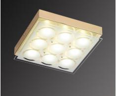 Afida, Lampada da soffitto a LED, 9 lampadine Ottone