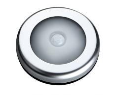 Luce Sensor, Sensore Movimento Luce, Lampada da Parete con Striscia Magnetica Stick-on, 3 Modalità, Luce Notturna per Armadio,Corridoio, Scala, Bagni (3 Pezzi, Bianco Caldo)