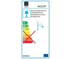 ONLI Lampadario a Sospensione E27, in vetro e ferro battuto colore Marrone/Avorio sfumato ambra. Stile classico. Ø 30cm x 150 cm