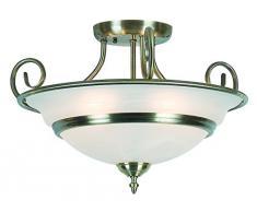 vescica 5 x 40 Watt E14 ottone antico lampadario ToLEDo