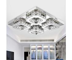 AITOCO Plafoniera in Cristallo 48W, plafoniera a LED a soffitto Lampada da soffitto Quadrata per Sala da Pranzo Cucina Camera da Letto Bagno Corridoio