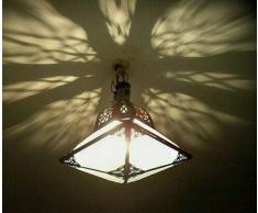 lampadario plafoniera marocchino vetro smerigliato lampada da soffitto lanterna marocchina applique L19